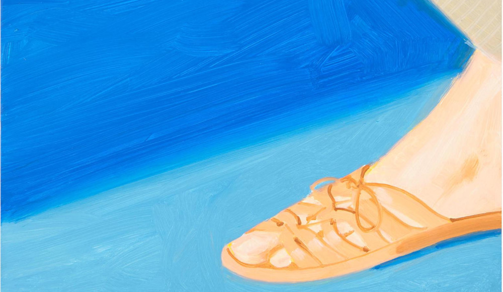 Alex Katz - Untitled (Study For Adas Sandals), 1987 (Detail)