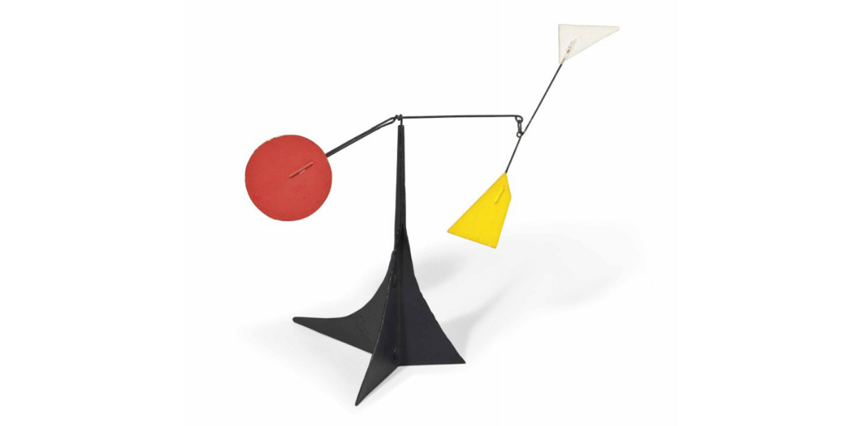 Alexander Calder - White and Yellow Polygons, Red Disc, 1964
