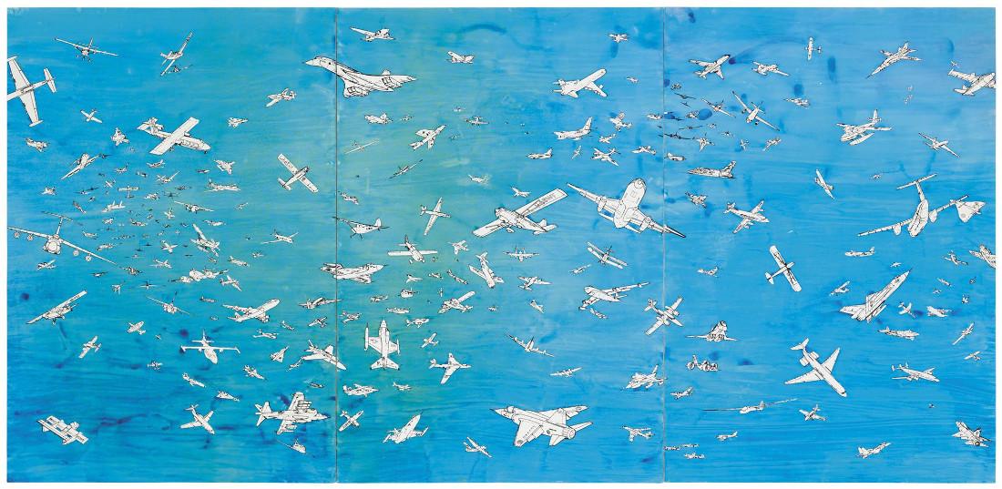 Alighiero Boetti - Aerei (Planes), 1989 (Detail)