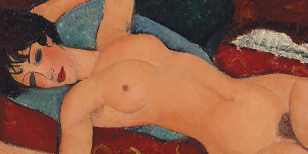 Amedeo Modigliani - Nu couche,  1917