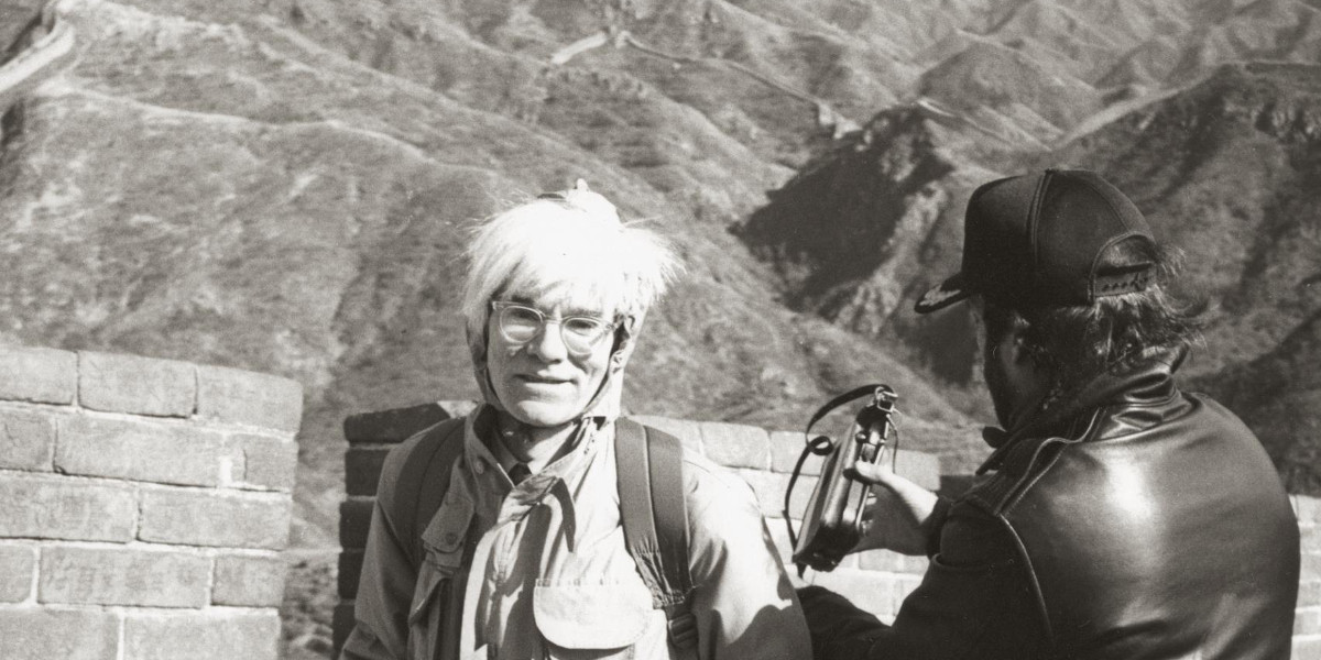 Andy Warhol - Andy Warhol At The Great Wall, 1982 (detail)