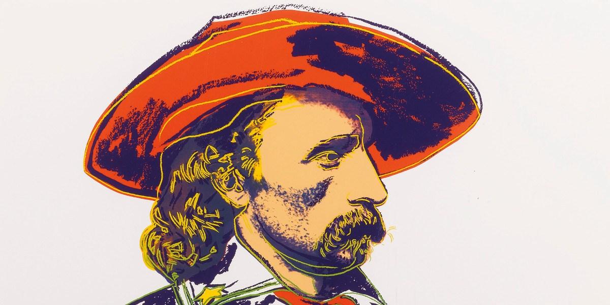 Andy Warhol - General Custer (Detail), 1986