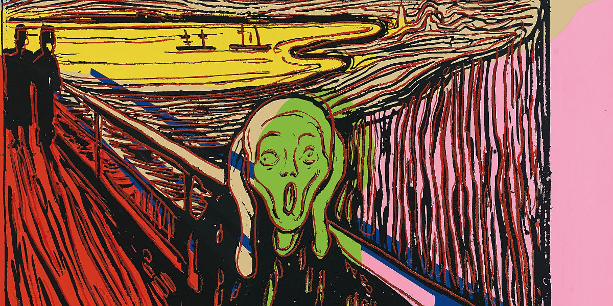 Andy Warhol - The Scream (After Munch) (detail), 1984