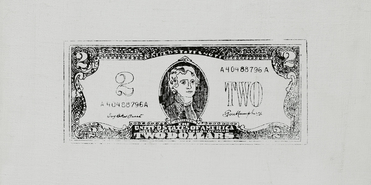 Andy Warhol - Two Dollar Bill (Front), 1962 (detail)