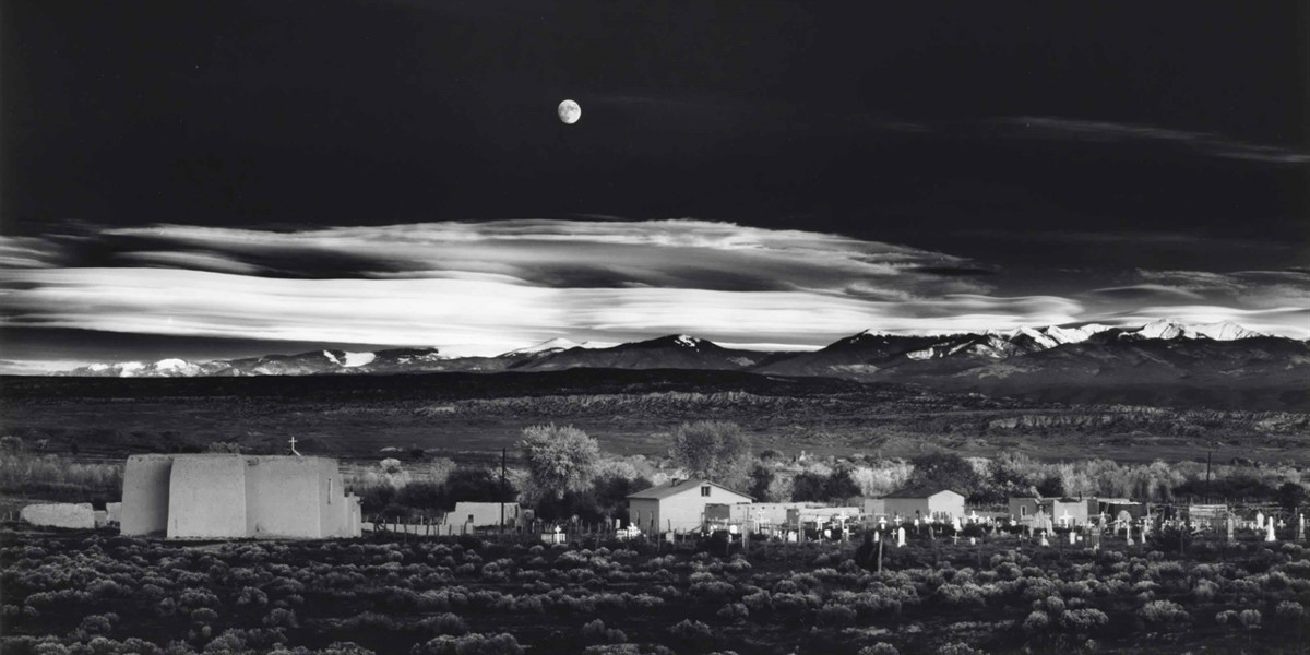 Ansel Adams - Moonrise, Hernandez, New Mexico, 1941 (detail)