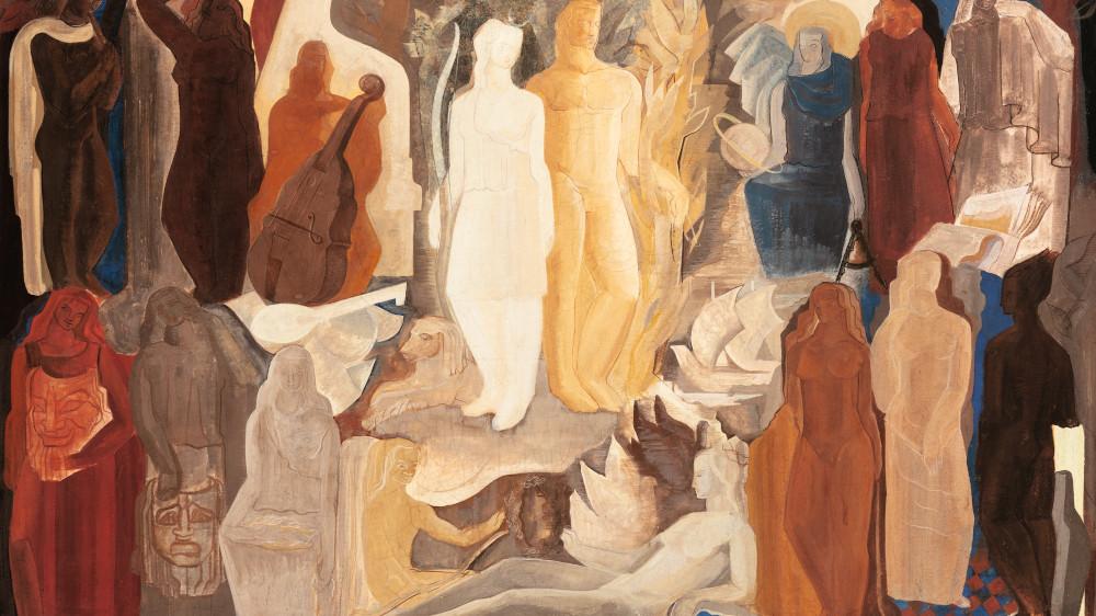 Anto Carte - Allegorie Des Arts, circa 1937 (detail)