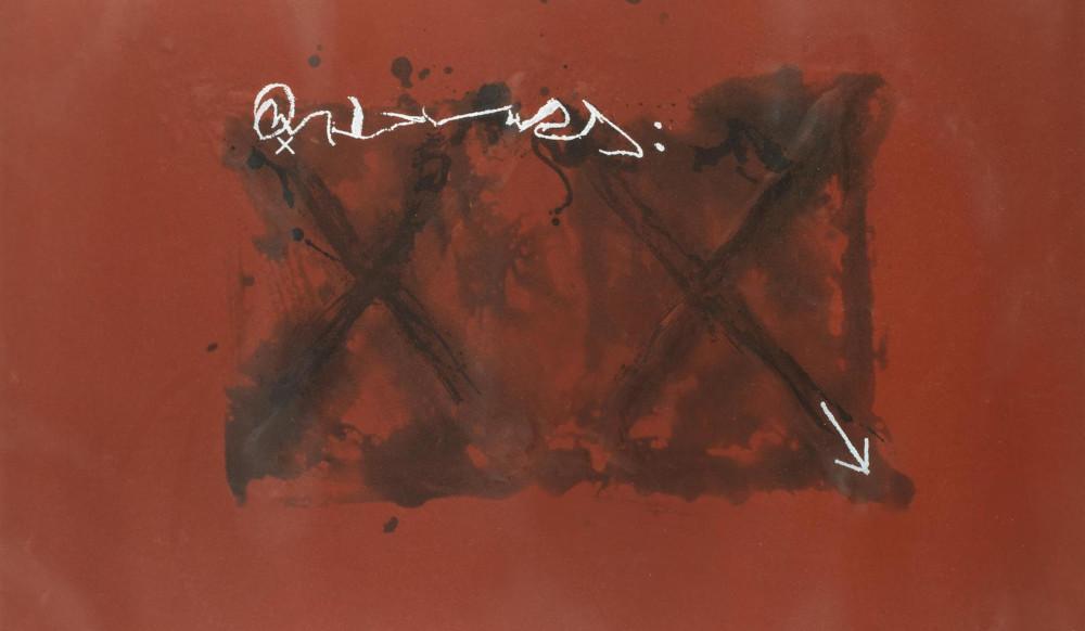 Antoni Tapies - Anular (Galfetti 823), 1981 (Detail)