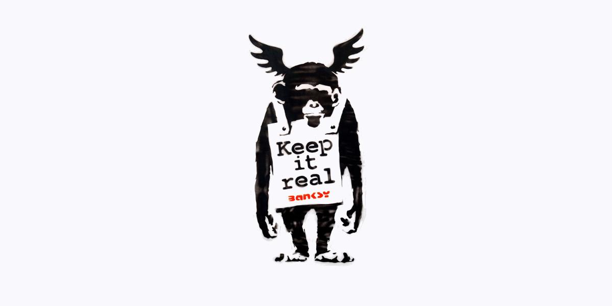 Banksy - Keep it real, 2003