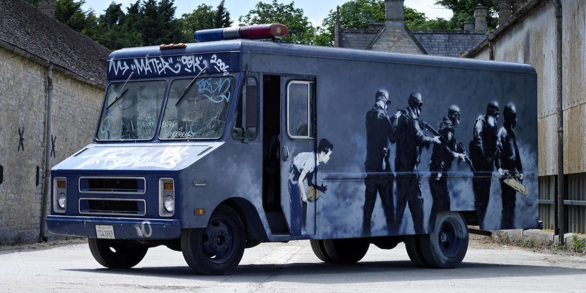 Banksy - SWAT Van, 2006