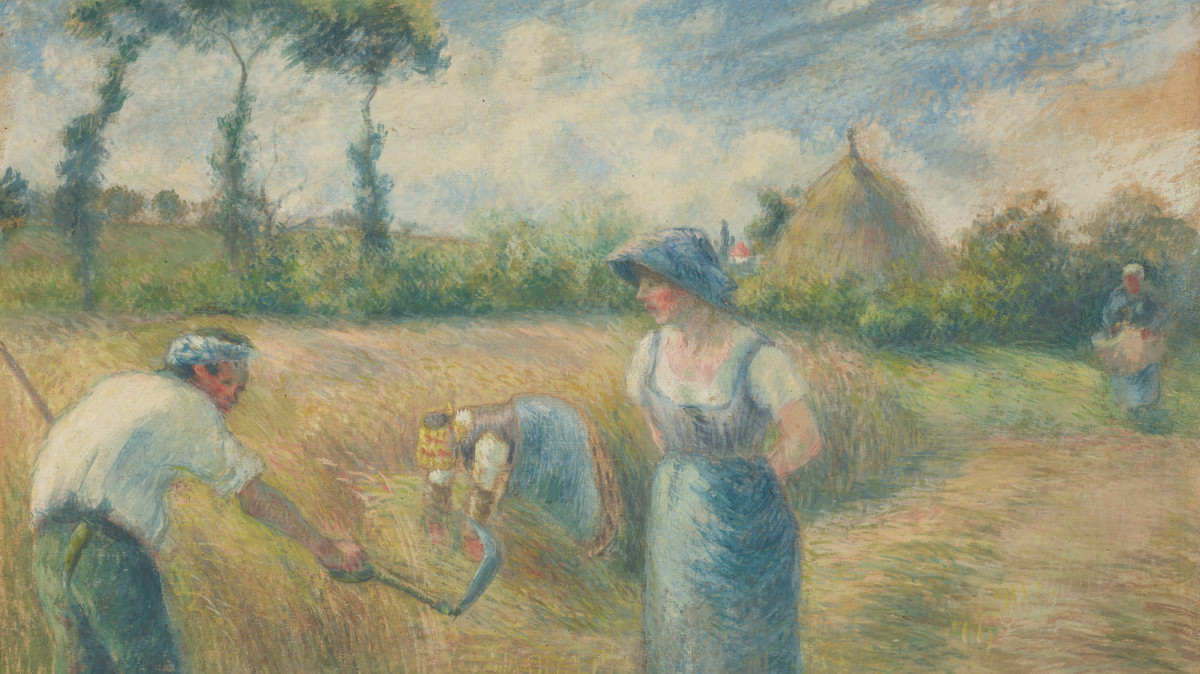 Camille Pissarro - La Recolte, 1880 (detail)