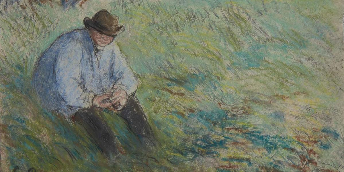 Camille Pissarro - Le Pere Melon Assis, circa 1879 (Detail)
