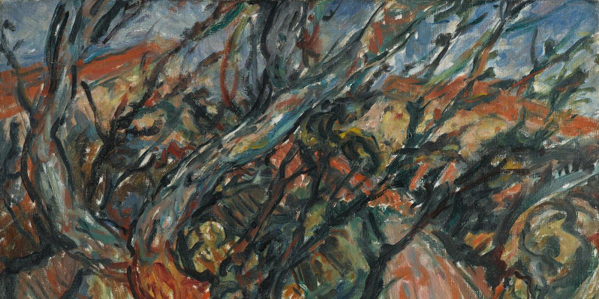 Chaim Soutine - Paysage Arbreux, 1919 (detail)