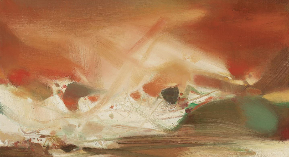 Chu Teh-Chun - Lumieres De Lame, 1984 (Detail)