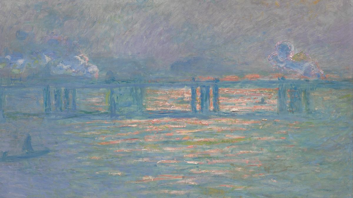 Claude Monet - Charing Cross Bridge, 1903 (detail)