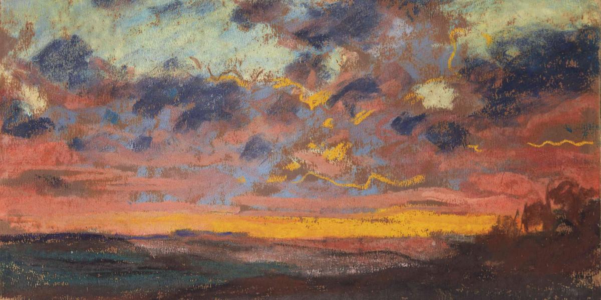 Claude Monet - Coucher De Soleil, 1868 (Detail)