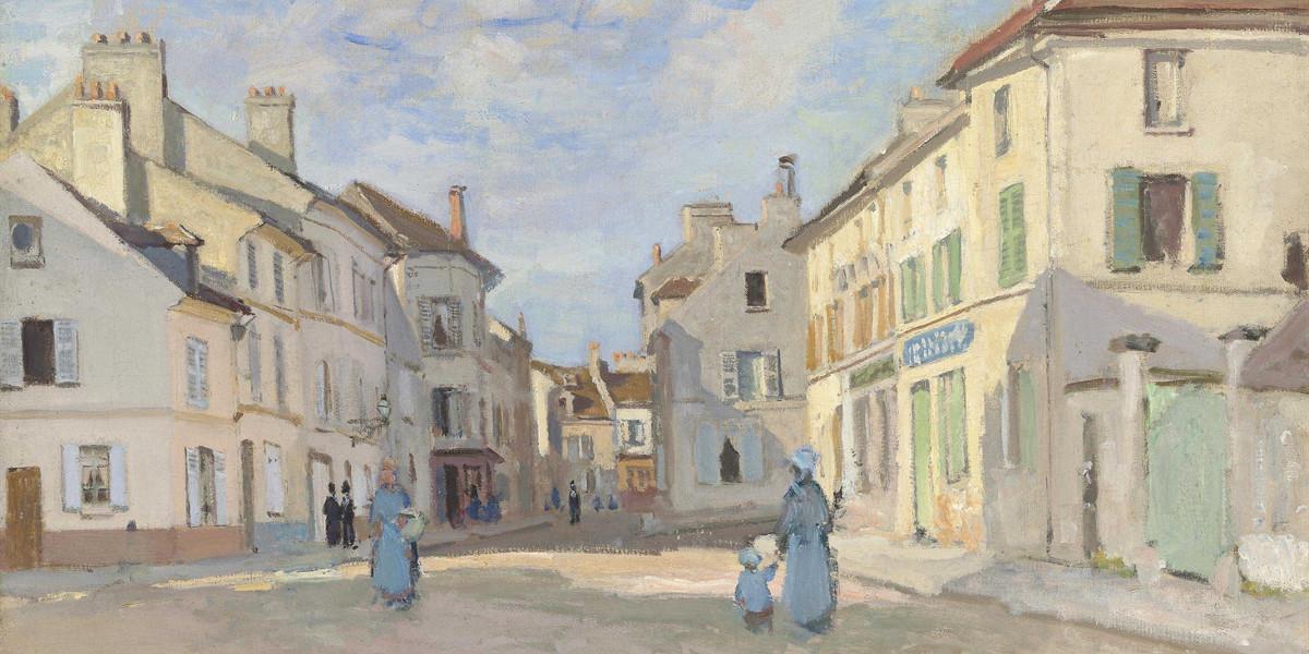 Claude Monet - L'Ancienne rue de la Chaussee, Argenteuil, 1872 (detail)
