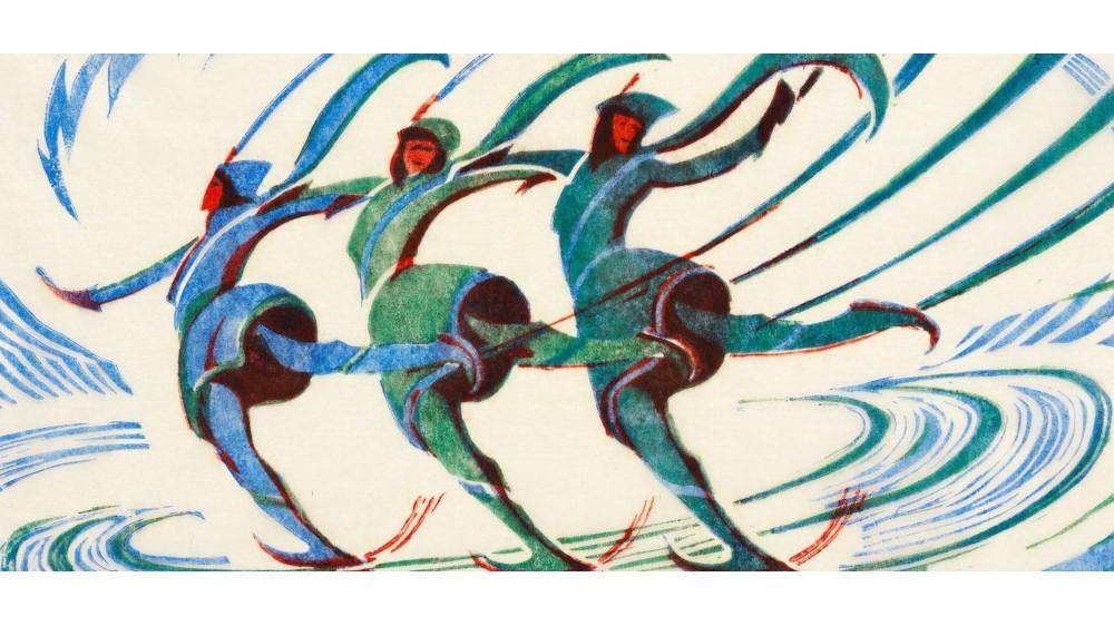 Cyril Edward Power - Skaters (Coppel Cep 29), circa 1932 (Detail)