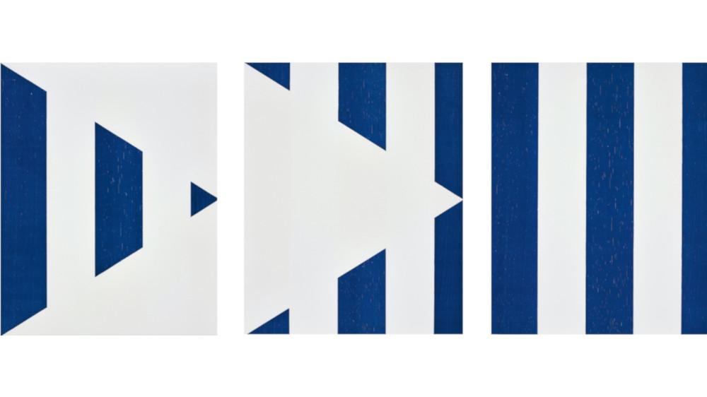 Daniel Buren - 1 + 2 = 3 (Triptych), From Sequences, 1998 (Detail)