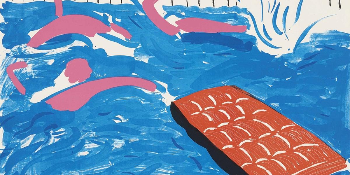 David Hockney - Afternoon Swimming, 1979 (detail)