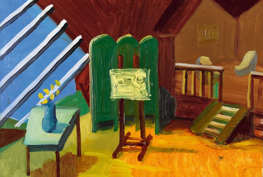 David Hockney - Bridlington Studio Interior, 1996 (Detail)