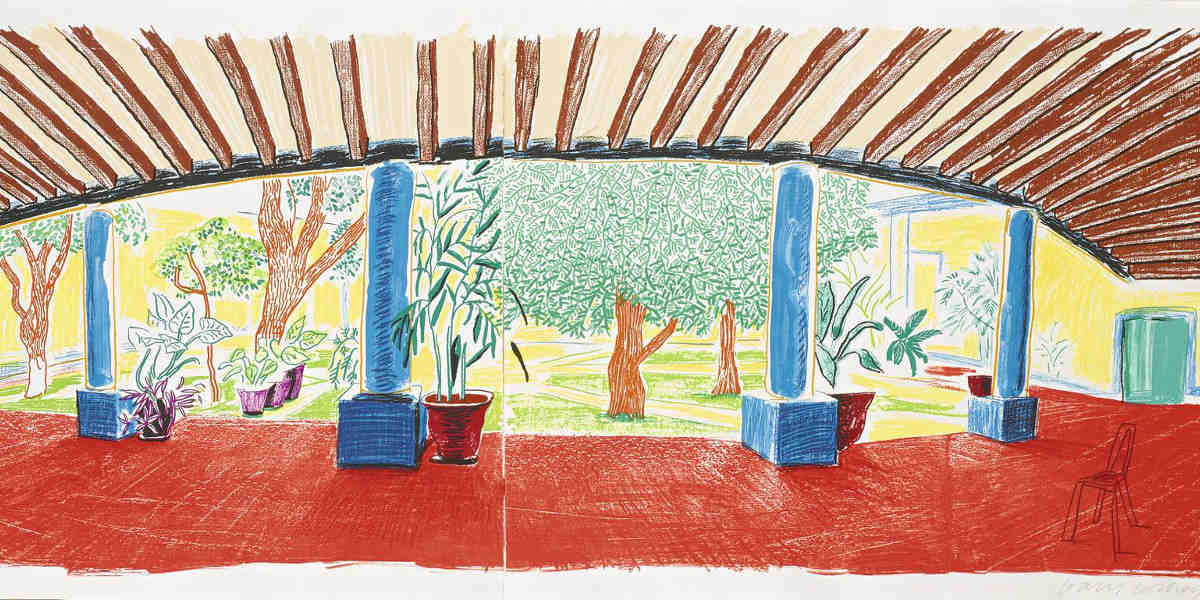 David Hockney - Hotel Acatlan First Day Museum Of Contemporary Art, Tokyo 269, 1984-85 (Detail)