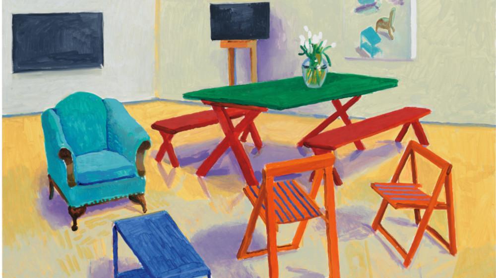 David Hockney - Studio Interior #2, 2014 (Detail)