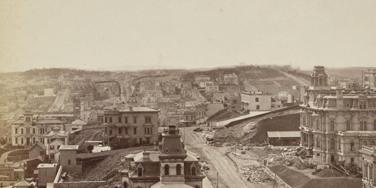 Eadweard Muybridge - Panorama Of San Francisco From California St. Hill (detail)