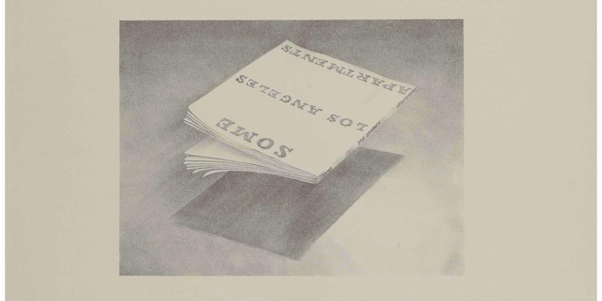 Ed Ruscha - Some Los Angeles Apartments, From Book Covers, 1970 (Detail)
