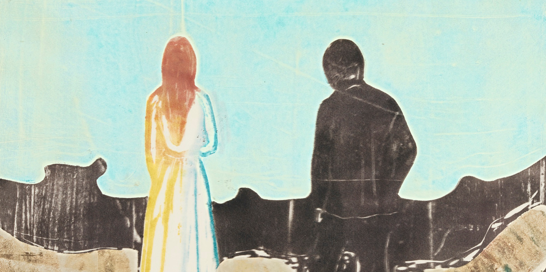 Edvard Munch - Two human beings. The lonely ones (detail)