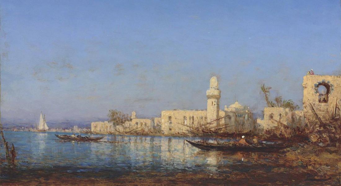 Felix Ziem - Tripoli Dafrique (Detail)