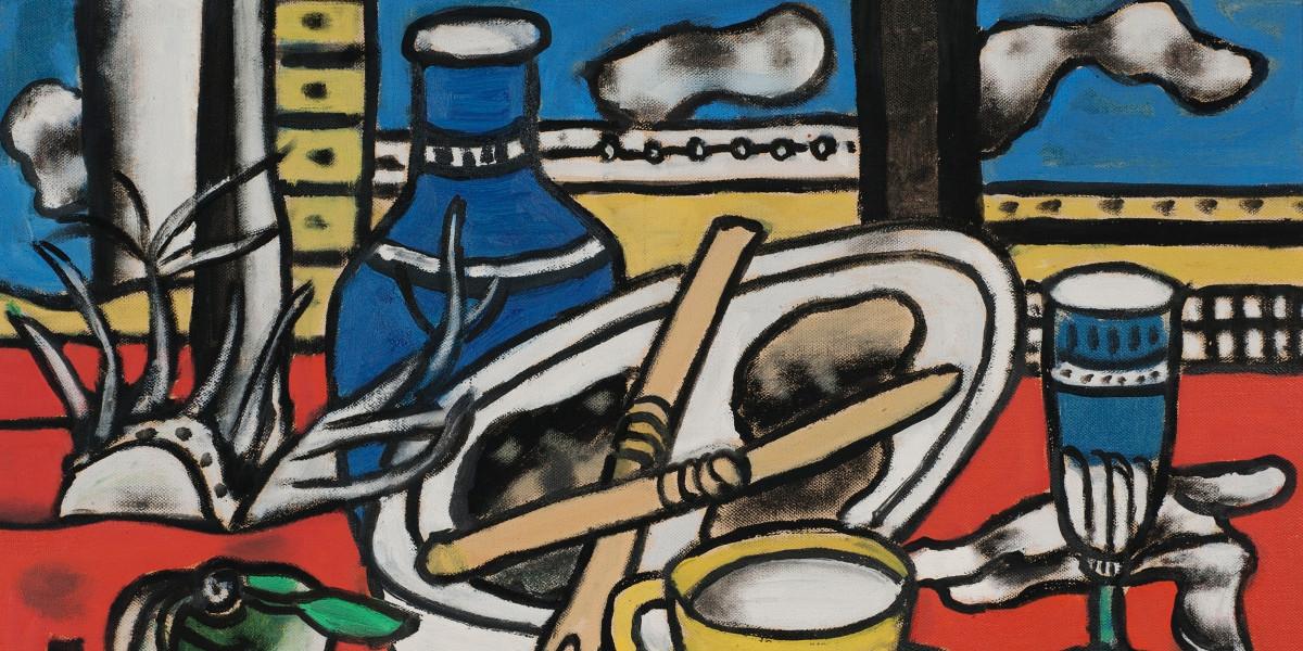 Fernand Leger - Les Deux Couteaux, 1949 (detail)