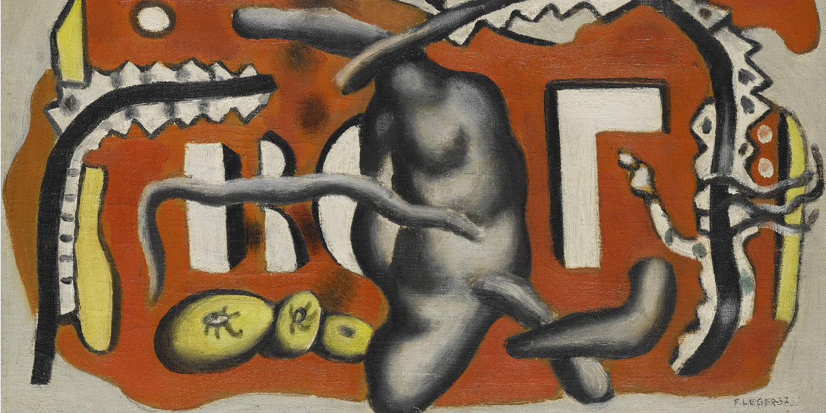 Fernand Leger - Nature Morte (Composition En Rouge), 1932 (Detail)