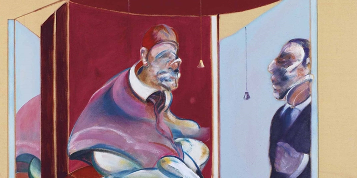 Francis Bacon - Study Of Red Pope 1962. 2Nd Version 1971 (detail)