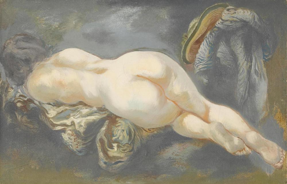 George Grosz - Reclining Nude, 1940 (Detail)