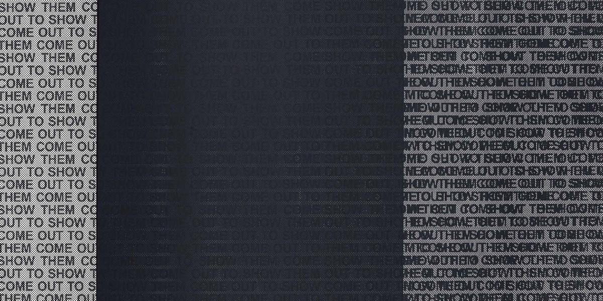 Glenn Ligon - Come Out Study #19, 2015 (detail)