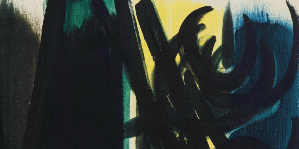 Hans Hartung - Untitled (detail)