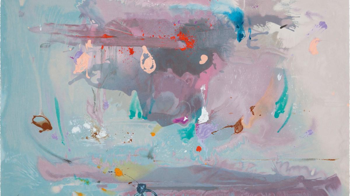 Helen Frankenthaler - Grey Fireworks, 2000 (detail)