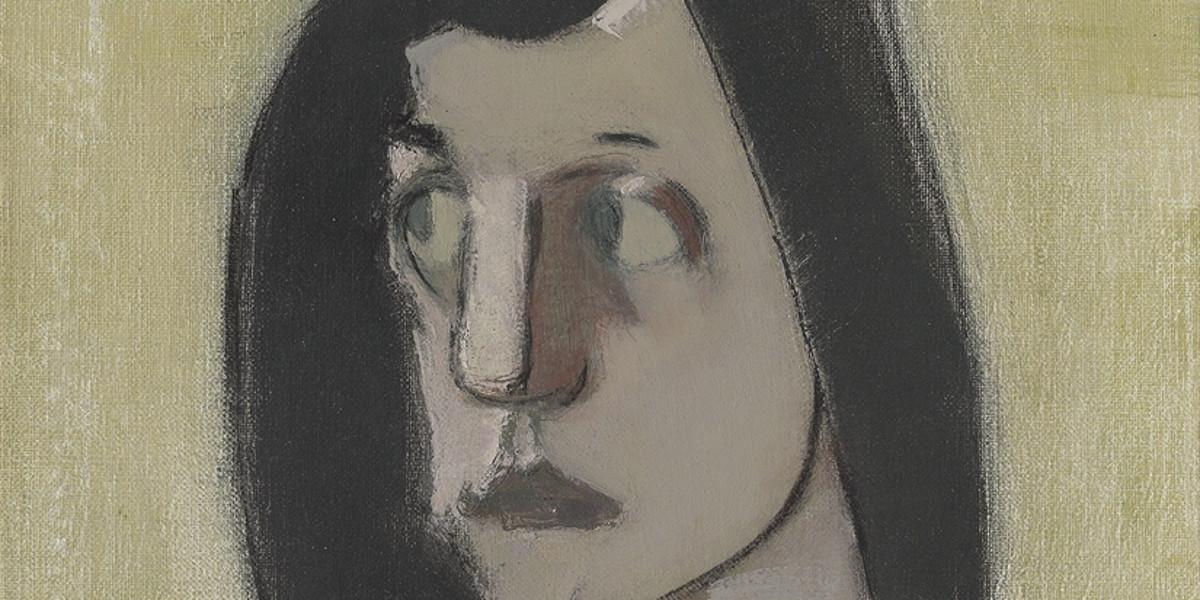 Helene Schjerfbeck - Mustatukkainen Nainen Kvinna Med Svart Har Woman With Black Hair, 1935 (detail)