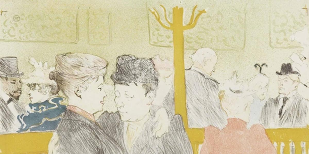 Henri De Toulouse-Lautrec - La Danse au Moulin Rouge, 1897 (detail)