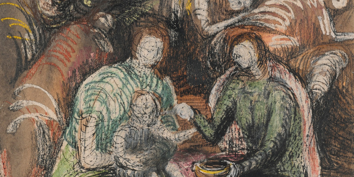 Henry Moore - Shelter Drawing, 1942 (detail)