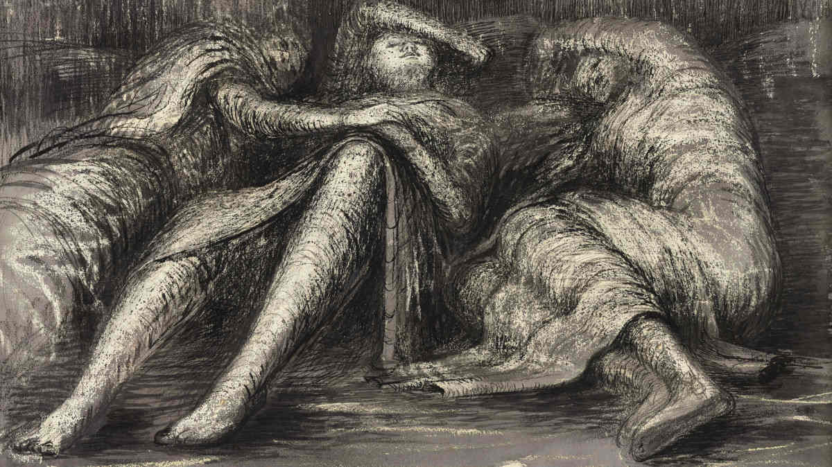 Henry Moore - Three Sleeping Shelterers, 1941 (detail)