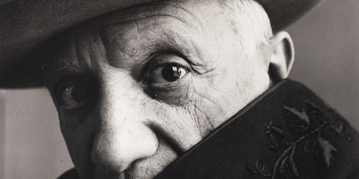 Irving Penn - Pablo Picasso at La Californie, Cannes, France (Detail), 1957