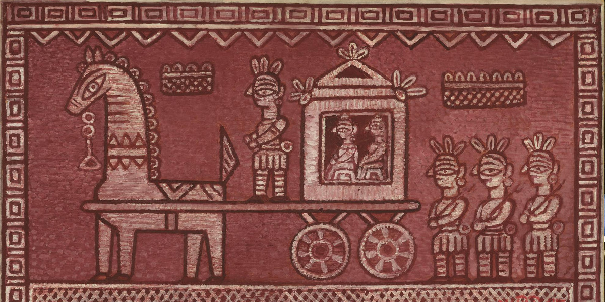 Jamini Roy - Untitled (The Bridegroom Procession) (Detail)