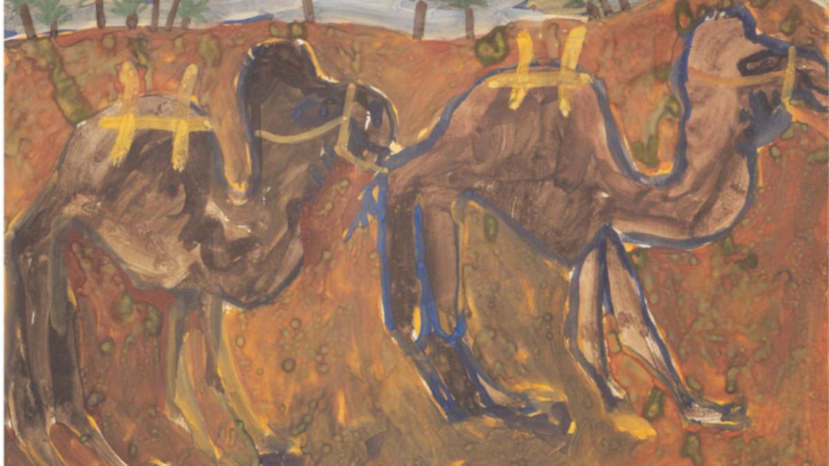 Jean Dubuffet - Deux Chameaux Bates, 1948 (Detail)