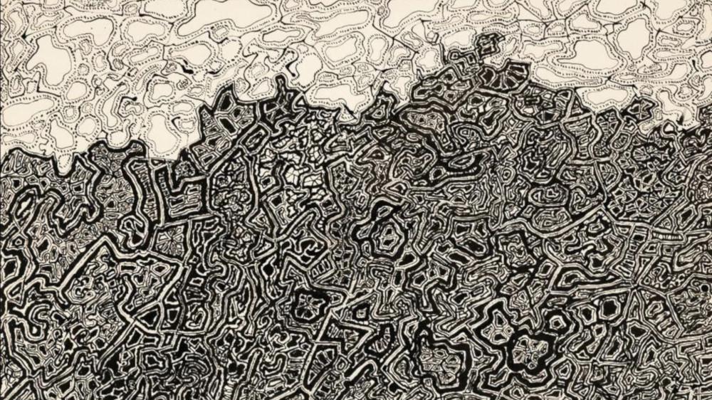 Jean Dubuffet - Eblouissante Gloire De La Terre Et Du Ciel, 1952 (Detail)