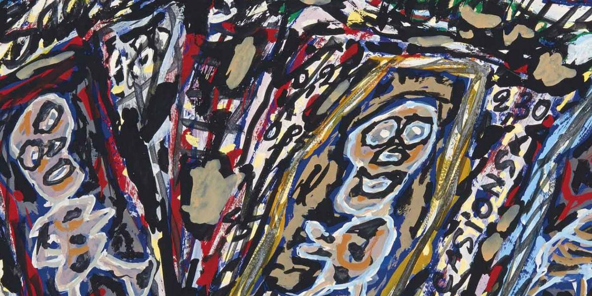 Jean Dubuffet - Rue Montmartre (la Paltoque) (detail), 1962