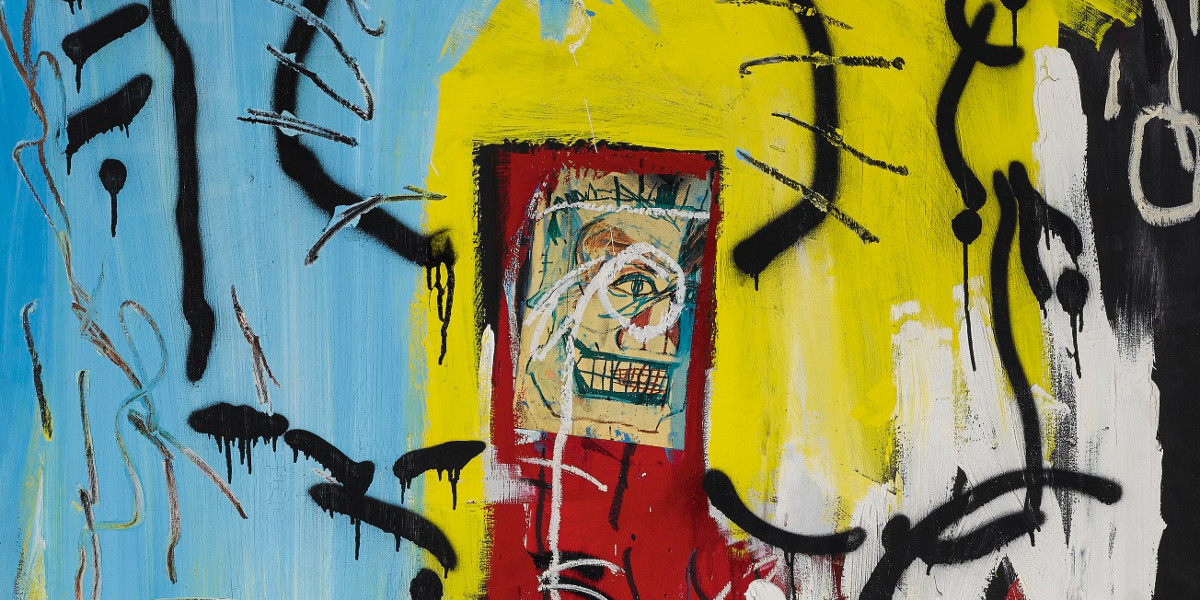 Jean-Michel Basquiat - Untitled (One Eyed Man Or Xerox Face), 1982 (detail)