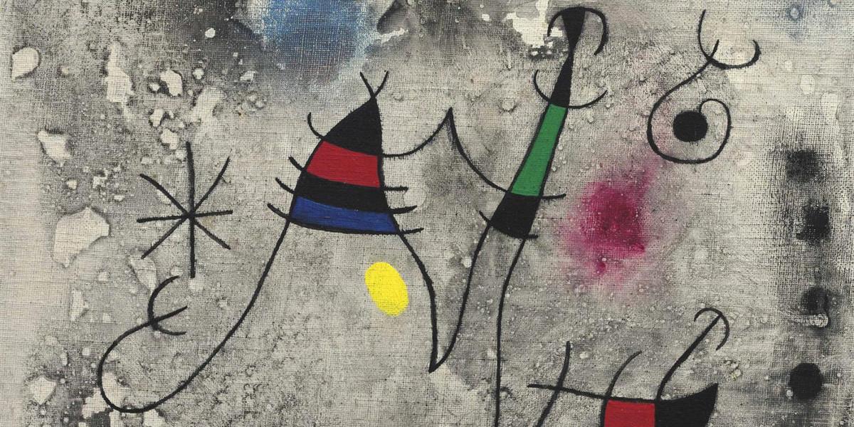 Joan Miro - Lenvolee II, 1963 (Detail)