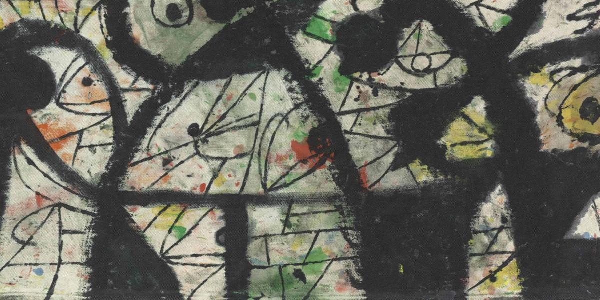 Joan Miro - Personnages, oiseaux, 1981 (detail)