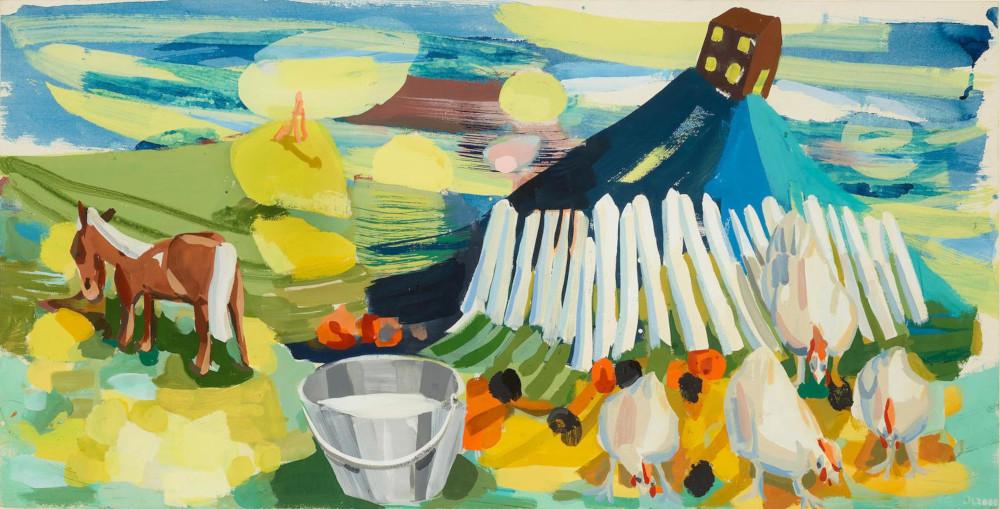 Judith Linhares - Farm, 2000 (Detail)